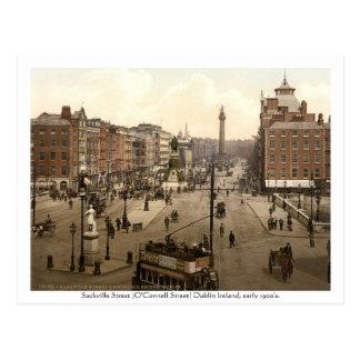 Carte Postale Dublin vintage Irlande, rue de Sackville