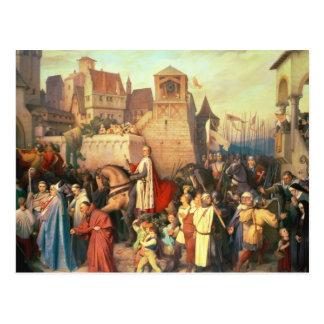 Carte Postale Duc Leopold le glorieux entre dans Vienne