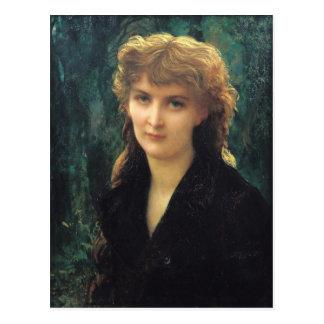 Carte Postale d'Uckermann 1884 de Baronness Eleonore