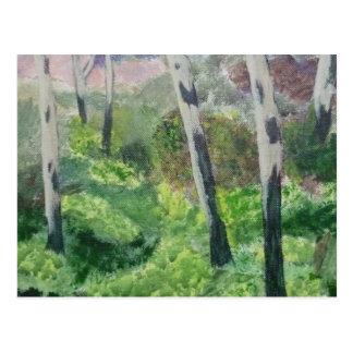 Carte postale d'un bois de primevère de Devon