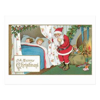 Carte Postale D'un Joyeux enfants de sommeil et Père Noël Noël