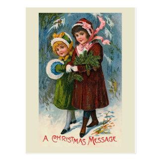 """""""Carte postale d'un message de Noël"""" Carte Postale"""