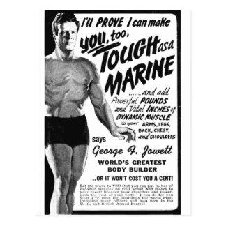 Carte Postale Dur en tant que marine !