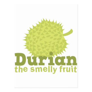 Carte Postale Durian le fruit puant