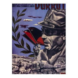 Carte Postale Durruti. Véritable affiche d'are_Propaganda