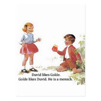 Carte Postale Duvid aime Golde.
