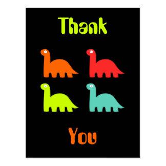 Carte postale dynamique de Merci de Dinos