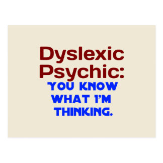 Carte Postale Dyslexique psychique