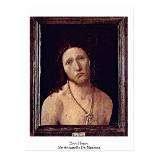 Carte Postale Ecce homo par Antonello DA Messine