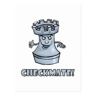 Carte Postale Échec et mat drôle de pièce d'échecs de freux