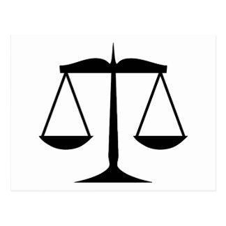 Carte Postale Échelles de justice (loi)