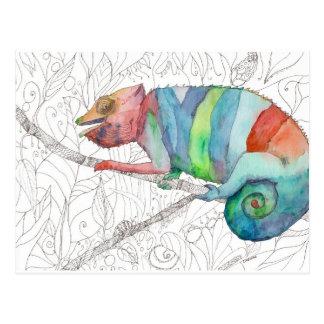 Carte Postale Échouer de caméléon