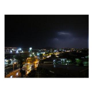 Carte Postale Éclairage/orage au-dessus de Salonique