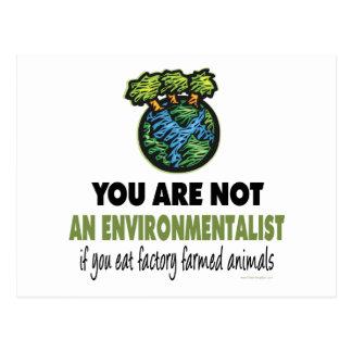 Carte Postale Écologiste = végétalien, végétarien