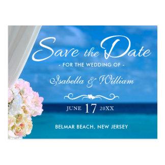 Carte Postale Économies bleues élégantes d'été de plage d'océan