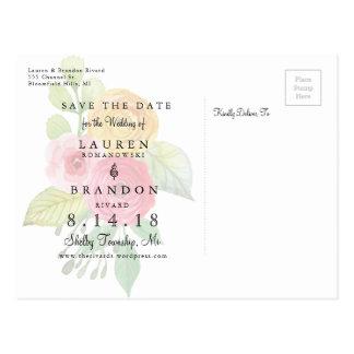 Carte Postale Économies chics rustiques la date