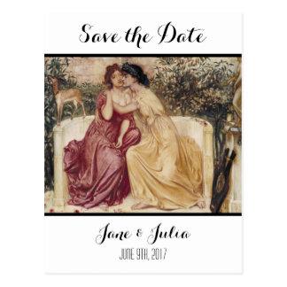 Carte Postale Économies classiques d'art la date (deux femmes)
