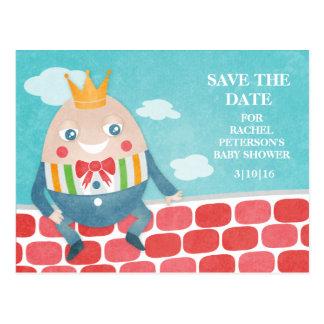 Carte Postale Économies colorées de baby shower de Humpty Dumpty