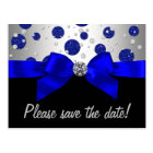 Carte Postale Économies d'argent de bleu royal la date