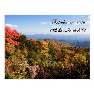 Carte Postale Économies de Blue Ridge Mountains la date