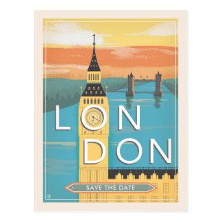 Carte Postale Économies de Londres | la date
