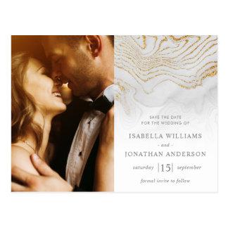 Carte Postale Économies de mariage de marbre de parties