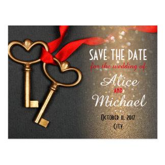 Carte Postale Économies de mariage de style élégant la date