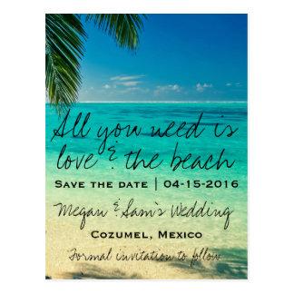 Carte Postale Économies de mariage du Mexique la date