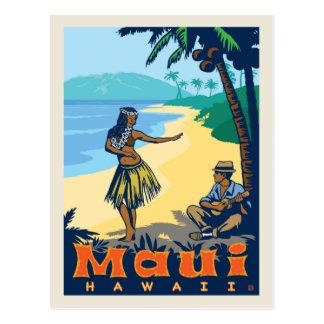Carte Postale Économies de Maui, Hawaï | la date