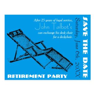 Carte Postale Économies de partie de retraite de chaise longue