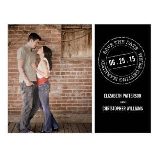 Carte Postale Économies de photo de mariage de cachet de la
