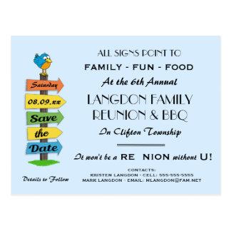 Carte Postale Économies de poteau indicateur la Réunion, la