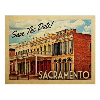 Carte Postale Économies de Sacramento la date la Californie