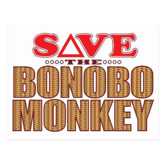 Carte Postale Économies de singe de bonobo