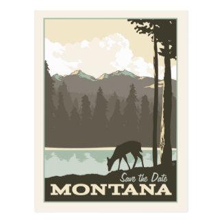 Carte Postale Économies du Montana   la date
