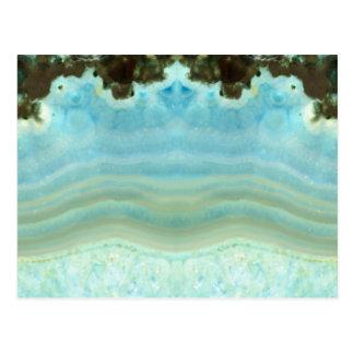 Carte Postale Économies en cristal élégantes vides de bleu la