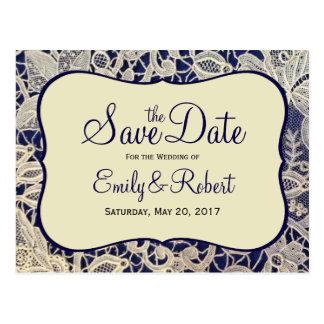 Carte Postale Économies formelles enes ivoire de mariage de bleu