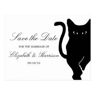 Carte Postale Économies lunatiques modernes de mariage de chat