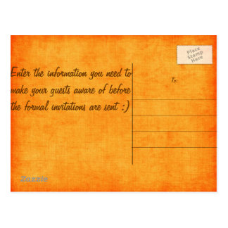 Carte Postale Économies oranges de Camo la date !