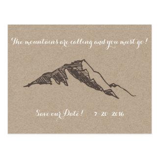 Carte Postale Économies personnalisables de montagne la date