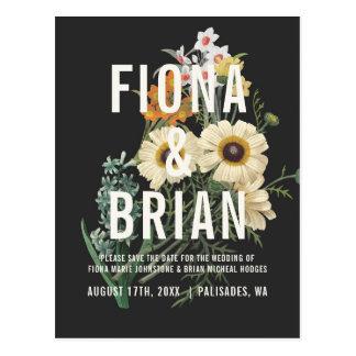 Carte Postale Économies rêveuses botaniques de mariage les