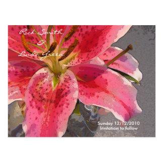 Carte Postale Économies roses et blanches d'hémérocalle la date