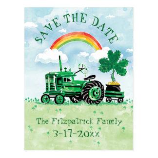 Carte Postale Économies vintages de tracteur du jour de St