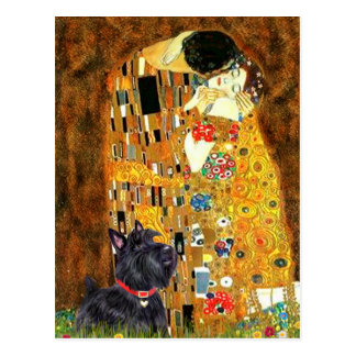 Carte Postale Écossais Terrier 6 - le baiser