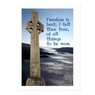Carte postale écossaise de liberté de William