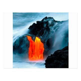 Carte Postale Écoulement de lave de volcan de Kilauea Hawaï