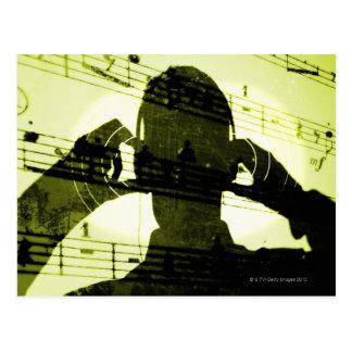 Carte Postale Écouter la musique