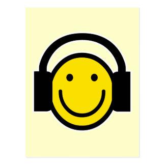Carte Postale Écouteurs souriants
