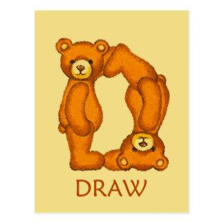 Carte Postale Écriture sainte d'aspiration de ~ d'ours de bible