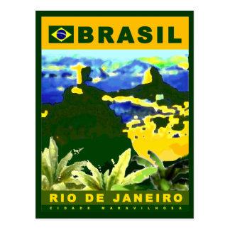 Carte Postale Écrivez au sujet de la ville de Rio de Janeiro